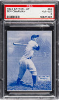 Baseball Cards:Singles (1930-1939), 1934-36 Batter-Up Ben Chapman #62 PSA NM-MT 8 - Only One Higher. ...