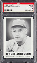 Baseball Cards:Singles (1960-1969), 1960 Leaf George Anderson #125 PSA Mint 9 - None Higher. ...