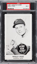 Baseball Cards:Singles (1950-1959), 1959 Home Run Derby Wally Post PSA NM 7 - Pop One, None Hi...