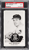 Baseball Cards:Singles (1950-1959), 1959 Home Run Derby Gus Triandos PSA NM 7 - Pop One, None ...