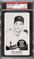 Baseball Cards:Singles (1950-1959), 1959 Home Run Derby Bob Allison PSA NM 7 - Pop Two, None Higher!...