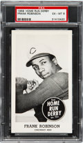 Baseball Cards:Singles (1950-1959), 1959 Home Run Derby Frank Robinson PSA EX-MT 6 - Pop Three...