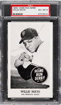Baseball Cards:Singles (1950-1959), 1959 Home Run Derby Willie Mays PSA EX-MT 6.  Afte...
