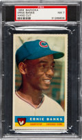 Baseball Cards:Singles (1950-1959), 1959 Bazooka Ernie Banks PSA NM 7 - Pop One, None Higher! ...