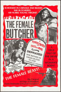 Movie Posters:Horror, The Female Butcher (Film Ventures International, 1975). Fo...