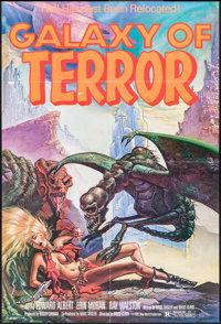 """Galaxy of Terror & Other Lot (New World, 1981). One Sheets (2) (26.5"""" X 39"""" & 27"""" X 41&qu..."""