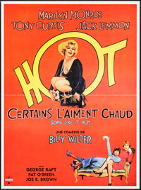 """Some Like It Hot (Action Cinemas, R-2000s). French Petite (15.75"""" X 21.25""""). Comedy"""