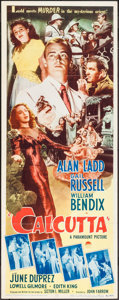 "Movie Posters:Film Noir, Calcutta (Paramount, 1946). Insert (14"" X 36""). Film Noir.. ..."