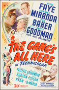 """Movie Posters:Musical, The Gang's All Here (20th Century Fox, 1943). One Sheet (27"""" X41""""). Musical.. ..."""