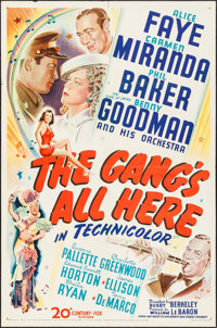 "The Gang's All Here (20th Century Fox, 1943). One Sheet (27"" X 41""). Musical"
