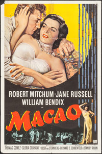 "Macao (RKO, 1952). One Sheet (27"" X 41""). Film Noir"