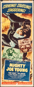"Movie Posters:Horror, Mighty Joe Young (RKO, 1949). Insert (14"" X 36""). Horror.. ..."