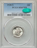 1938-S 10C MS67 Full Bands PCGS. CAC. PCGS Population: (174/7). NGC Census: (67/7). CDN: $500 Whsle. Bid for problem-fre...