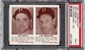Baseball Cards:Singles (1940-1949), 1941 Double Play Riggs/Durocher #141/142 PSA NM 7. ...