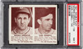 Baseball Cards:Singles (1940-1949), 1941 Double Play Arnovich/Hubbell #139/140 PSA NM 7. ...