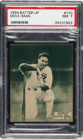 Baseball Cards:Singles (1930-1939), 1934-36 Batter-Up Mule Haas #170 PSA NM 7 - Pop Two, Two Higher....