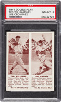 Baseball Cards:Singles (1940-1949), 1941 Double Play Williams/Cronin #81/82 PSA NM-MT 8 - Only One Higher. ...