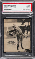 Baseball Cards:Singles (1930-1939), 1934-36 Batter-Up Gilly Campbell #164 PSA NM 7 - Only Two Higher. ...
