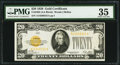 Small Size:Gold Certificates, Fr. 2402 $20 1928 Gold Certificate. PMG Choice Very Fine 35.. ...