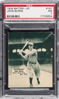 Baseball Cards:Singles (1930-1939), 1934-36 Batter-Up John Burns #191 PSA NM 7 - Only One Higher. ...