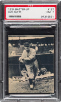 Baseball Cards:Singles (1930-1939), 1934-36 Batter-Up Gus Suhr #187 PSA NM 7 - Only One Higher. ...