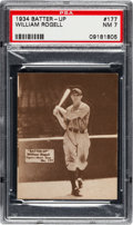 Baseball Cards:Singles (1930-1939), 1934-36 Batter-Up William Rogell #177 PSA NM 7 - Two Highe...