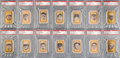 "Baseball Cards:Sets, 1963 Bazooka ""Baseball All-Time Greats"" Complete Set (41) - #2 onthe PSA Set Registry. ..."