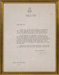 Miscellaneous, A Zsa Zsa Gabor Letter from Grace Kelly, circa 1971. 11 inches highx 8-3/4 inches wide (27.9 x 22.2 cm) (framed). Subject m...