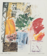 Robert Rauschenberg (American, 1925-2008) Untitled (ROCI Announcement), 1984 Color lithograph 21