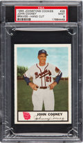 Baseball Cards:Singles (1950-1959), 1955 Johnston Cookies John Cooney #28 PSA Mint 9 - Pop One, NoneHigher! ...
