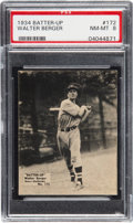 Baseball Cards:Singles (1930-1939), 1934-36 Batter-Up Walter Berger #172 PSA NM-MT 8 - Pop Four, NoneHigher. ...