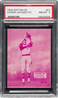 Baseball Cards:Singles (1930-1939), 1934-36 Batter-Up Cookie Lavagetto #51 PSA NM-MT 8 - Only OneHigher. ...