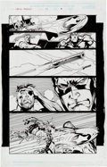 Original Comic Art:Panel Pages, Andy Kubert and Dan Green Captain America #27 Story Page 9(Marvel Comics, 2000)....