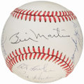 Autographs:Baseballs, 1988 New York Yankees Team Signed Baseball (13 Signatures).. ...