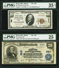 National Bank Notes:Maine, Waterville, ME - $20 1902 Plain Back Fr. 650 The Peoples NB Ch. #880;. $10 1929 Ty. 1 Peoples-Ticonic NB Ch. # 880... (Total: 2notes)