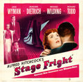 """Movie Posters:Hitchcock, Stage Fright (Warner Brothers, 1950). Six Sheet (80.25"""" X 79.25).Hitchcock.. ..."""