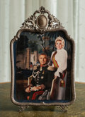 Decorative Arts, Continental:Other , A Framed Photo of Zsa Zsa Gabor and Prince Frederic Von Anhalt,late 20th century. 15-1/4 inches high x 9-1/2 inches wide (3...
