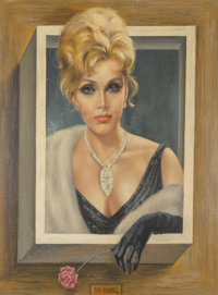 Margaret Keane (American, b. 1927) Portrait of Zsa Zsa Gabor Oil on canvas 21-1/4 x 17-1/8 inche