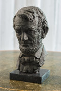 Decorative Arts, American, Jo Davidson (American, 1883-1952). Bust of Abraham Lincoln.Bronzed composite. 8-5/8 inches (21.9 cm) high. Signed to ba...