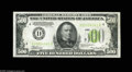 Small Size:Federal Reserve Notes, Fr. 2201-D $500 1934 Light Green Seal Federal Reserve Note. Gem Crisp Uncirculated. A fresh, bright and well centered Light...