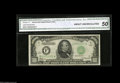 Small Size:Federal Reserve Notes, Fr. 2211-F* $1000 1934 Federal Reserve Star Note. CGA About Uncirculated 50. The census shows six Series 1934 $1000 stars f...