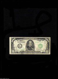Fr. 2211-L $1000 1934 DGS Federal Reserve Note. Fine. This $1,000 FRN is between the high for Dark Green Seals and low f...