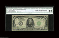 """Small Size:Federal Reserve Notes, Fr. 2212-F $1000 1934A Federal Reserve Note. CGA Crisp Uncirculated 61. A """"Florida Find"""" note in a CGA 61 holder...."""