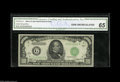 Small Size:Federal Reserve Notes, Fr. 2212-G $1000 1934A Federal Reserve Note. CGA Gem Uncirculated 65. This attractive thousand has been slabbed and graded ...