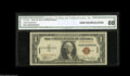 Small Size:World War II Emergency Notes, Fr. 2300 $1 1935A Hawaii Silver Certificate. A-C Block. CGA GemUncirculated 66. This is an extremely scarce note in this g...