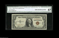 Small Size:World War II Emergency Notes, Fr. 2300 $1 1935A Hawaii Silver Certificate. CGA Gem Uncirculated 67. An extremely high grade for the rare F-C block, which...