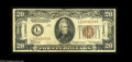 Small Size:World War II Emergency Notes, Fr. 2304 $20 1934 Hawaii Federal Reserve Note. Very Good-Fine. An evenly circulated, problem-free example of the very rare ...