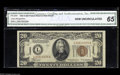 Small Size:World War II Emergency Notes, Fr. 2305 $20 1934A Hawaii Federal Reserve Note. CGA Gem Uncirculated 65. While not at all rare in circulated grades, this i...