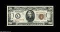 Small Size:World War II Emergency Notes, Fr. 2305 $20 1934A Hawaii Federal Reserve Note. Gem CrispUncirculated. The back centering is not perfect, which takesthis...