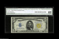 Small Size:World War II Emergency Notes, Fr. 2307 $5 1934A North Africa Silver Certificate. CGA Gem Uncirculated 65. A clearly premium North Africa note certified a...